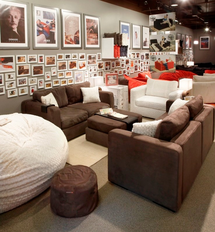 Love+Sac=Awesome Media Room Furniture | Lovesac Flatiron Crossing